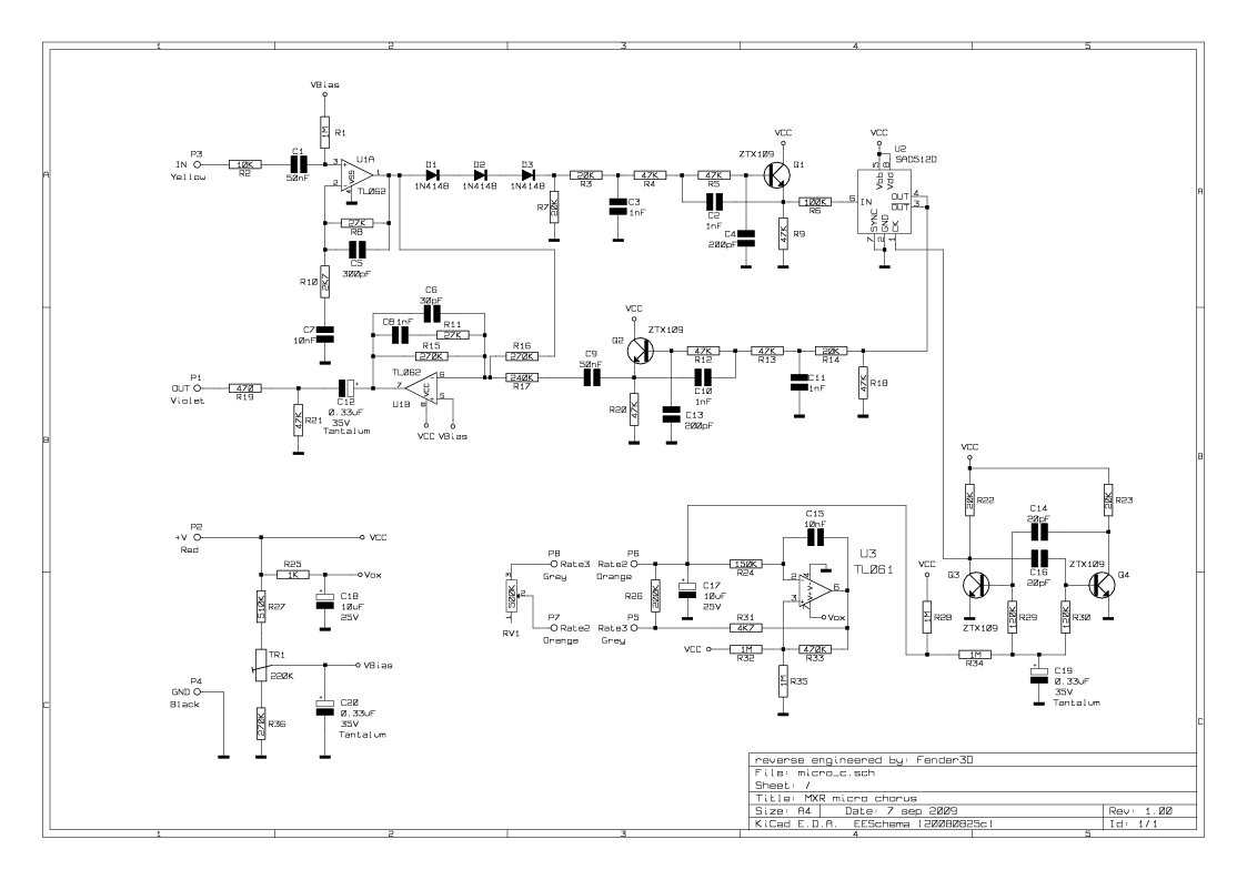 Mxr Pre Amp Wiring Diagram Library Distortion Pedal Schematics Image